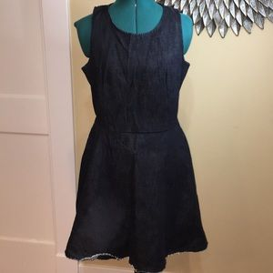 GAP Raw Edge 100% Cotton Denim Dress